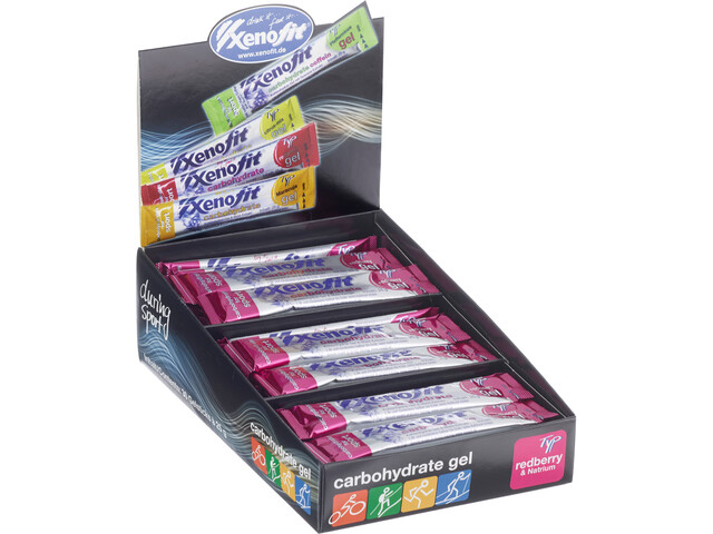 Xenofit Carbohydrate Gel Box 30x25g Redberry